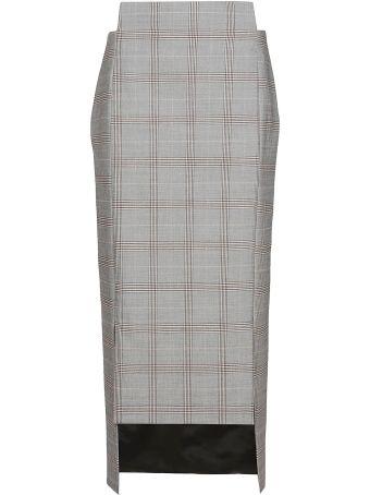 Maison Flaneur Fitted Asymmetric Skirt