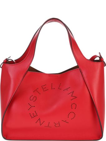 Stella McCartney Red Logo Tote Bag