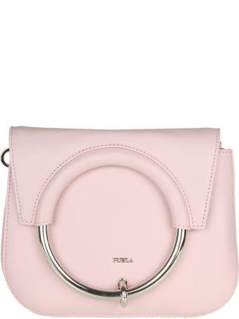 "Furla ""margherita Mini"" Shoulder In Pink Colored Leather"