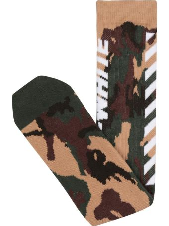 Off-White Wing Cotton Socks