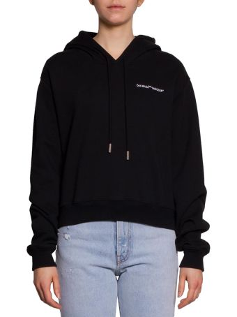 Off-White Quotes Cotton Hoodie