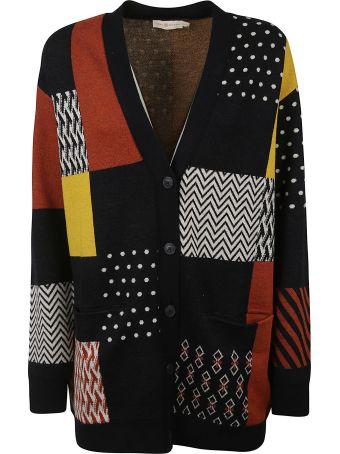 Tory Burch Patchwork Knit Cardigan