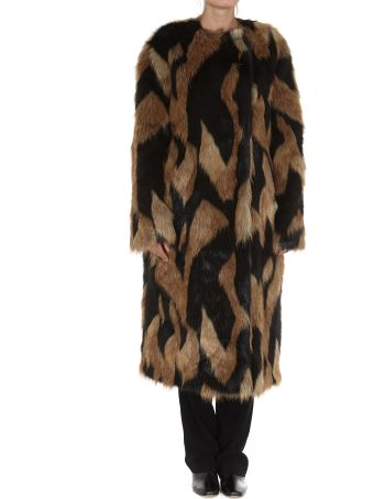 Givenchy Long Faux Fur Coat