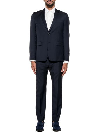 Mauro Grifoni Dark Blue Monaco Wool 2 Piece Suit