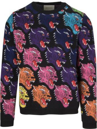 Gucci Jaguar Intarsia Sweater