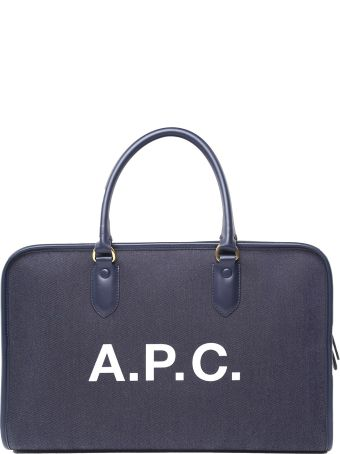 A.P.C. Gertrude Denim And Leather Handbag