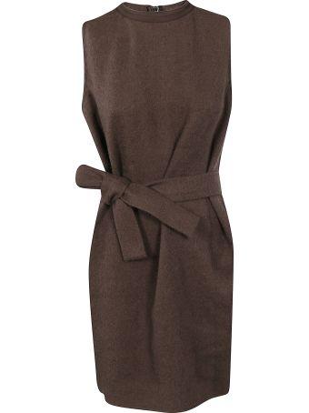 Rick Owens Belted Waist Sleeveless Dress