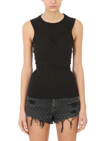 T by Alexander Wang High Twist Sleeveless Draped Tank