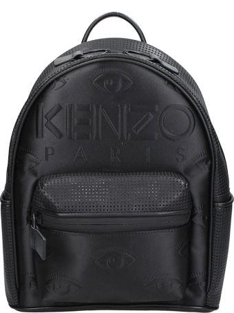 Kenzo Black Leather Kombo Backpack