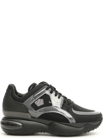 Fendi Leather And Mesh Sneakers