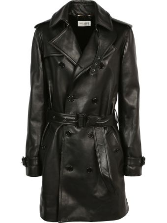 Saint Laurent Leather Trench Coat