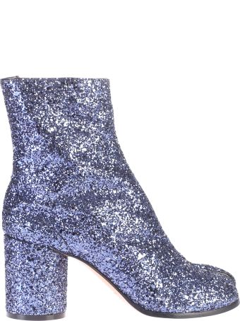 Blue Tabi Ankle Boots