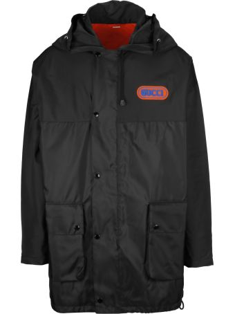 Gucci Sega Logo Patch Hooded Jacket
