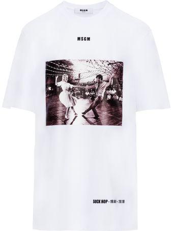 Msgm Tshirt Print