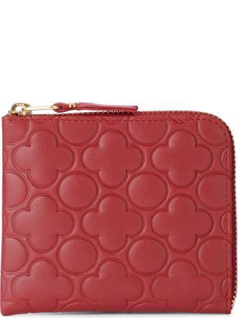 Comme des Garçons Wallet Comme Des Garcons Wallet Printed Red Leather Wallet