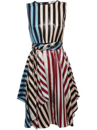 Diane Von Furstenberg Striped Print Dress
