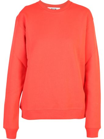 MSGM Red Branded Sweatshirt