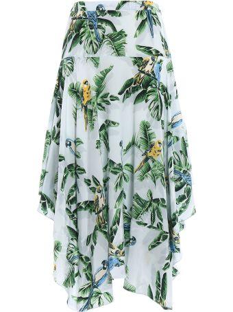 Stella McCartney Skirt Silk Birds Of Paradis