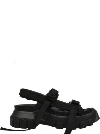 Rick Owens Black Leather Hiking Sandals