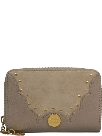 See by Chloé Embellished Zip Around Wallet