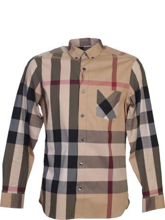 Burberry Camel Check Cotton Shirt