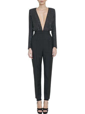 Givenchy Swarovsky Crystals Silk Jumpsuit
