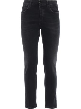 Dondup Nolan Carrot Fit Grey Stretch Denim Jeans