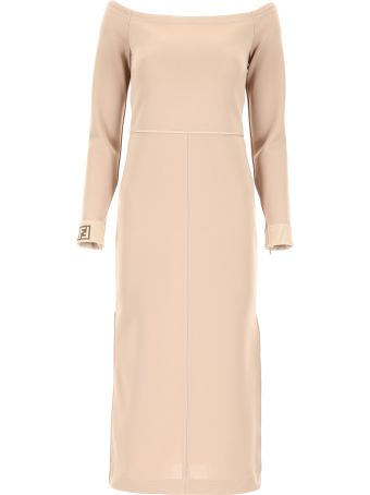 Fendi Off-the-shoulder Dress