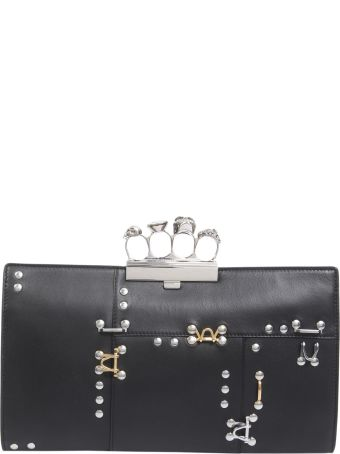 Skull Four Ring Flat Pouch