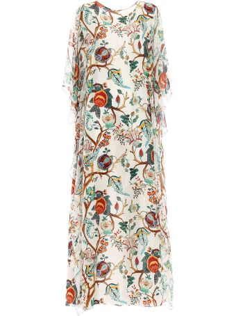 Alberta Ferretti Floral Flared Dress