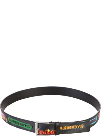 Burberry Black Printed Belt