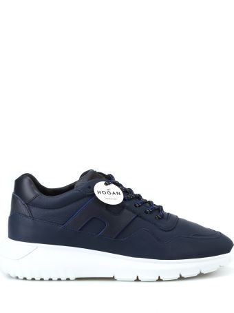 Hogan Interactive³ Dark Blue Leather Sneakers