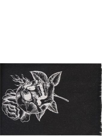 Marcelo Burlon Black Intarsia Scarf