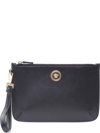Versace Icon Leather Clutch
