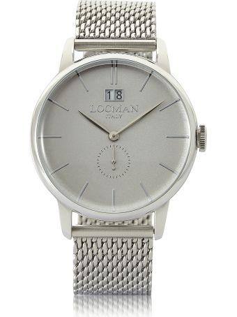 Locman 1960 Silver Stainless Steel Men's Watch