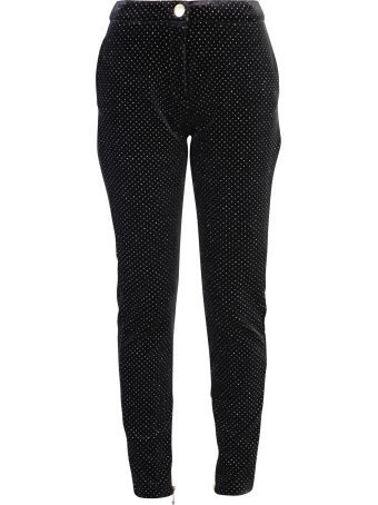 Balmain Black Embellished Trousers