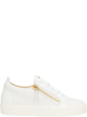 Giuseppe Zanotti Nicki White Leather Low Sneakers