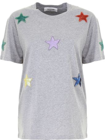T-shirt With Star Patches