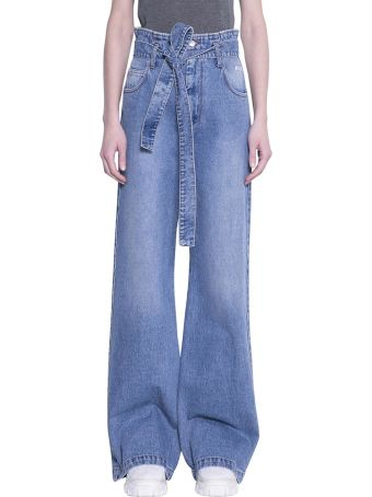 MSGM High Waist Cotton Jeans
