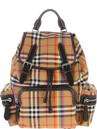 Burberry Leather Details Backpack