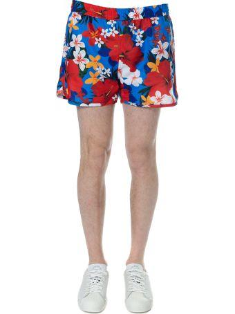 Ami Alexandre Mattiussi Multicolor Floral Print Swim Short