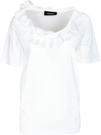 Dsquared2 D-squared2 Ruffled T-shirt