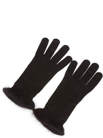 Cruciani Frayed Gloves