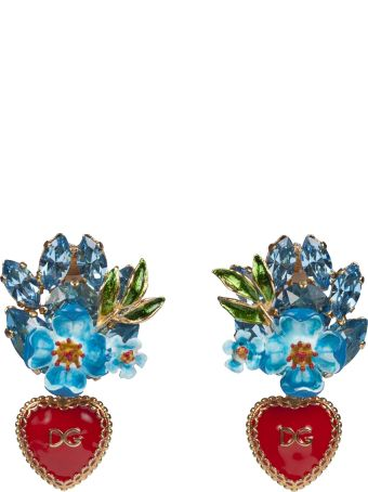 Dolce & Gabbana Dg Heart And Flower Earrings