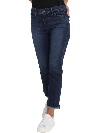 J Brand Bootcut Cropped Selena Jeans With Inside Out Hem