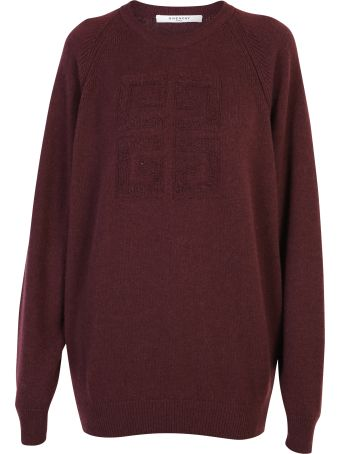 Givenchy Bordeaux Branded Sweater
