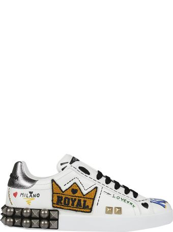 Dolce & Gabbana Embellished Low-cut Sneakers