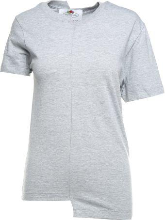 Cedric Charlier Asymmetric Cotton-jersey T-shirt  Fruit Of The Loom X Cedric Charlier