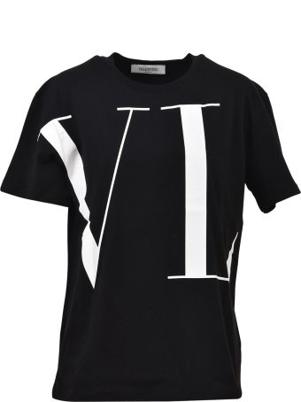 Valentino Black Oversized Vltn T-shirt