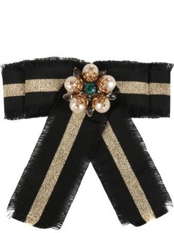 Gucci Web Gros-grain Bow Brooch